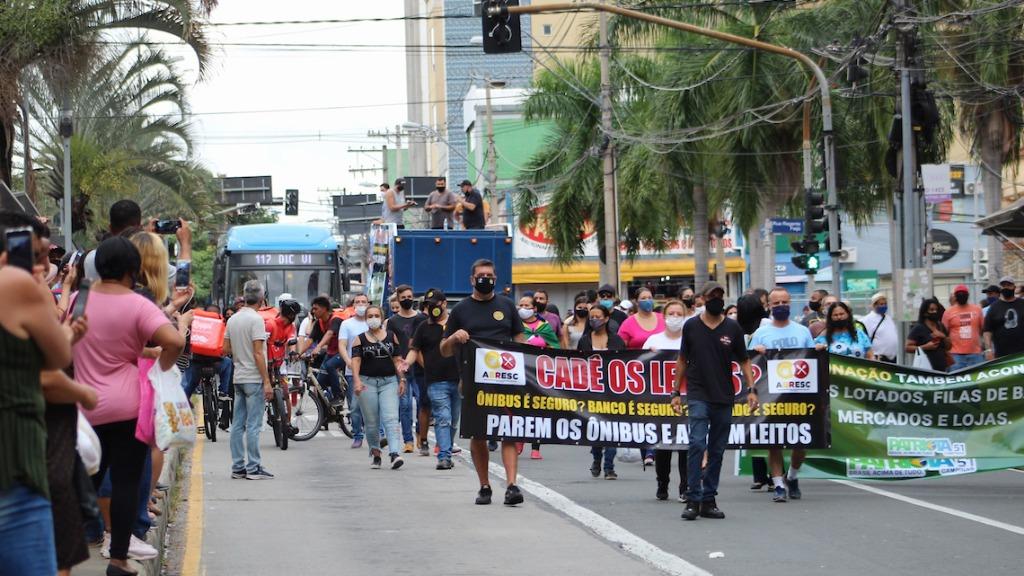 Manifestação ocorreu nesta sexta-feira (Foto: Karen Fontes/Código19) - Foto: (Foto: Karen Fontes/Código19)