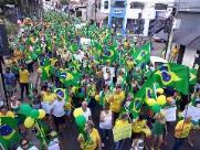 Manifestantes vão às ruas de Araraquara a favor de Jair Bolsonaro