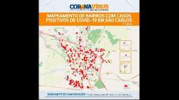 Mapa mostra bairros com mais casos de Covid-19 em São Carlos
