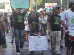 Manifestantes saíram do Centro da cidade em direção ao Morro do São Bento com o objetivo de levar às ruas reivindicações sobre o uso medicinal e o fim da guerra às drogas - Foto: Milena Aurea / A Cidade