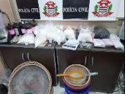 Polícia Civil fecha refinaria de drogas em Paulínia