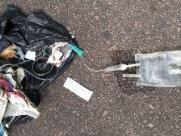 Material hospitalar é descartado em rua de Valinhos
