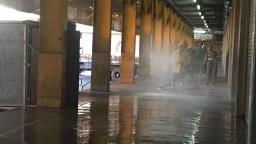 Ceasa reforça limpeza com jato de alta pressão contra covid-19