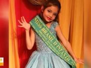 Menina de 8 anos vence concurso de Mini Miss Brasil 2018