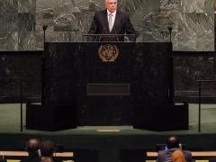 Michel Temer fez o discurso de abertura da Assembléia Geral da ONU, em Nova York - Foto: Beto Barata / PR