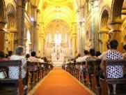 Fiéis comemoram Dia de São Sebastião em missa na Catedral
