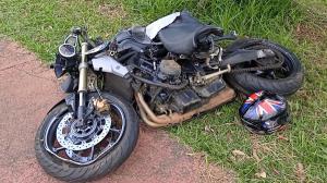 Vídeo: Acidente deixa motociclista em estado grave na região