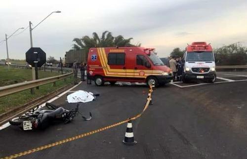 Motociclista de 25 anos morre após ser atropelado por carreta em Matão (Foto: Jornal Cidades/Divulgação) - Foto: ACidade ON - Araraquara