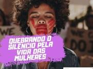 Mulheres fazem ato contra o feminicídio em Araraquara