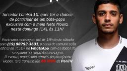 Ponte Preta realiza live com o meia Neto Moura no domingo