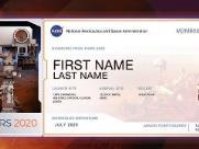 Mande seu nome para Marte