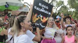 Bloco da Galinhada arrasta foliões em Joaquim Egídio