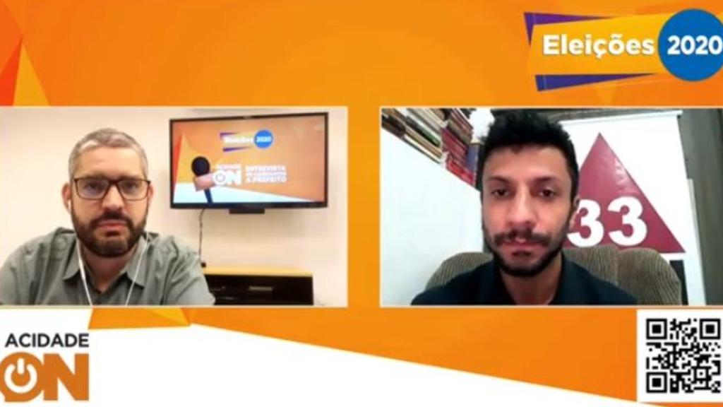 O editor Luis Manzoli e o candidato Ahmed Tarique (Foto: Reprodução) - Foto: Reprodução