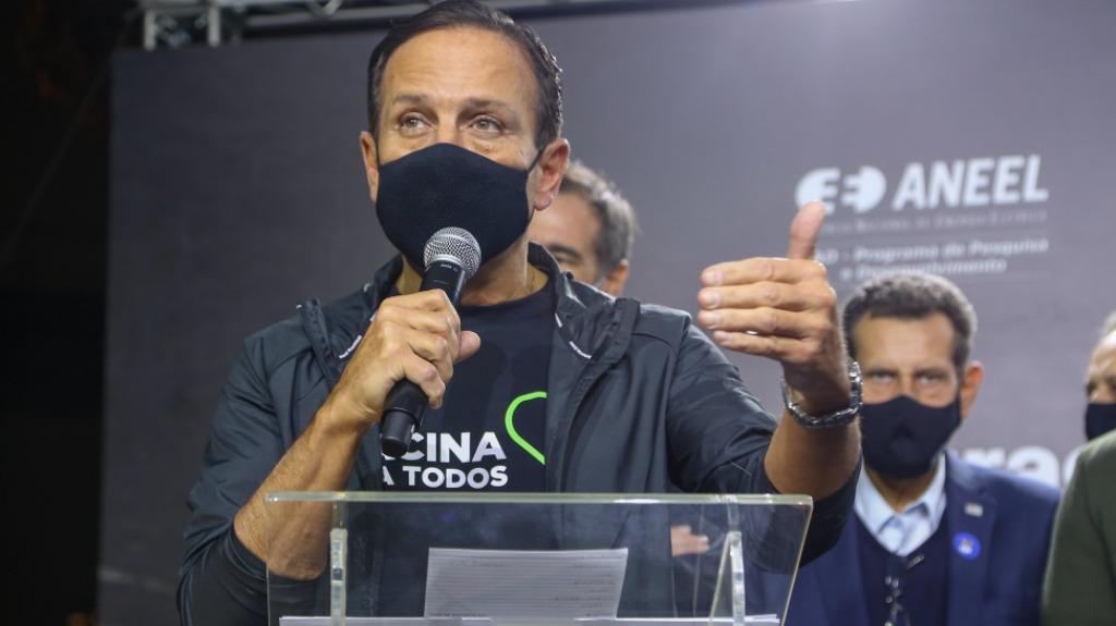 O governador em entrega de projeto de iluminação LED nesta última semana (Foto: Governo do Estado de São Paulo) - Foto: Governo do Estado de São Paulo