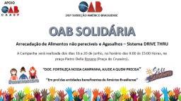 OAB de Américo Brasiliense realiza campanha solidária