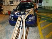 GM apreende arma, rojões e bastões perto do estádio do Bugre
