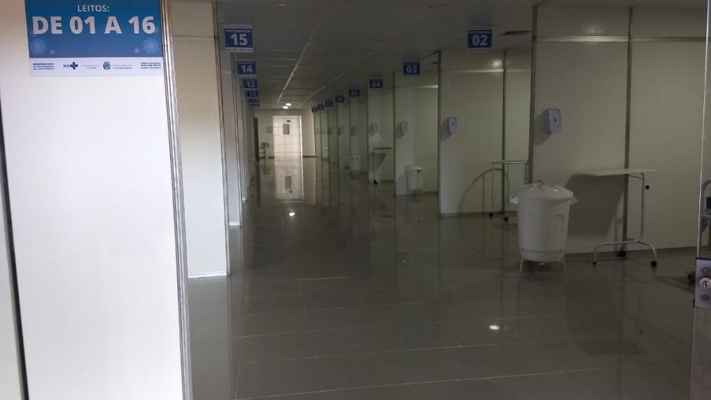 Obra do hospital de campanha está em fase final (Foto: Paula Cardoso/CBN) - Foto: ACidade ON - Araraquara