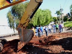 Prefeitura dá início às obras de recuperação dos estragos causadas pelo temporal no mês passado - Foto: Divulgação