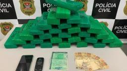 Polícia Civil apreende 22 quilos de maconha na Anhanguera