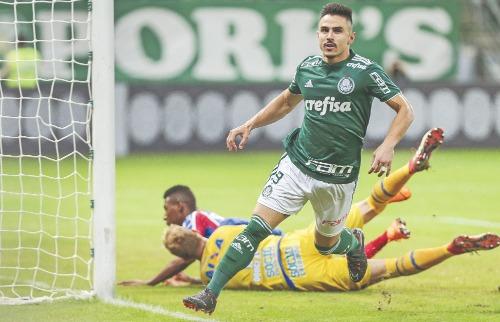 Foto: Ale Cabral / AGIF / Folhapress - Willian marcou o gol de empate palmeirense no duelo contra o América-MG (Foto: Ale Cabral / AGIF / Folhapress)