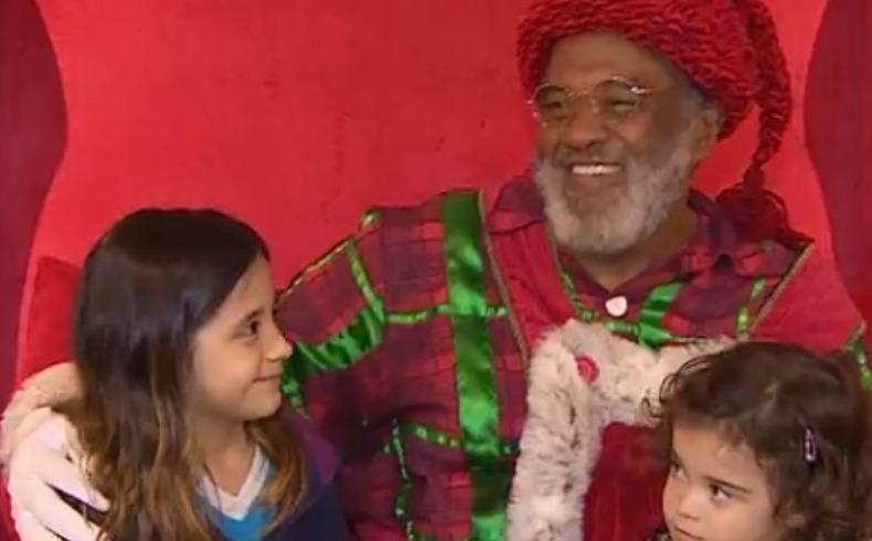 b404b98ed Papai Noel negro faz sucesso em shopping - Noticias - ACidade ON ...