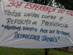 Paralisação em Boa Esperança do Sul - Foto: Da reportagem