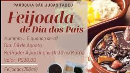 Paróquia promove feijoada drive-thru para o Dia dos Pais