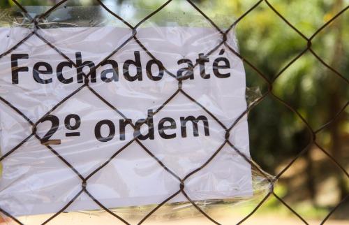 Parque do Basalto está fechado - Foto: Da reportagem