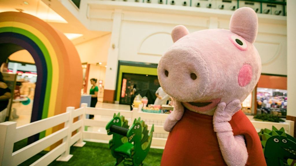 Peppa Pig é atração do final de semana no Iguatemi São Carlos. Foto: Divulgação - Foto: ACidade ON - São Carlos
