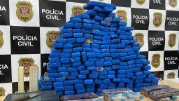 Polícia apreende 111 quilos de maconha em Santa Barbara d