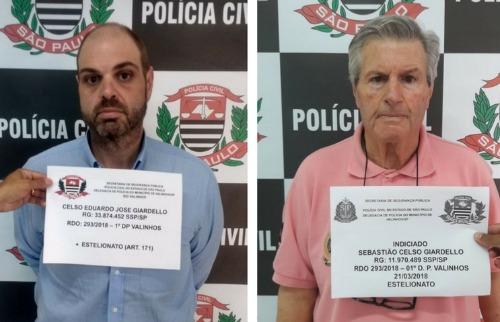 Divulgação/Polícia Civil - Polícia Civil de Valinhos prendeu filho e pai estelionatários nesta quarta-feira (21). (Foto: Divulgação/Polícia Civil)