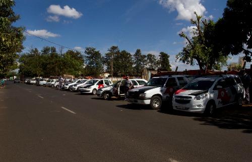Operação da Polícia Militar na principal entrada do Jardim Aeroporto (foto: 13-06-2014 Weber Sian / A Cidade) - Foto: Weber Sian / A Cidade