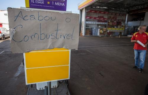 Weber Sian / A Cidade - Postos de Ribeirão Preto sem combustíveis (foto: Weber Sian / A Cidade)