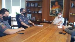 Prefeito recebe novo comandante do 38° Batalhão da Polícia Militar