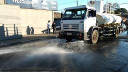 Sanitização é realizada no entorno das UPAs e Hospital da Solidariedade