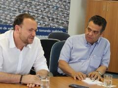 Primeira fase da transição de Governo começou na semana passada, em reunião entre Edinho e Barbieri (Tom Oliveira/Tribuna) - Foto: Tribuna Araraquara