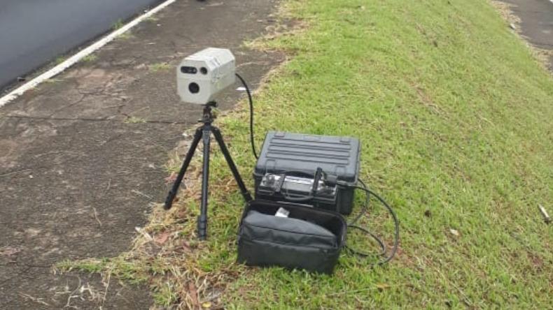 Radar móvel em São Carlos. Foto: Divulgação