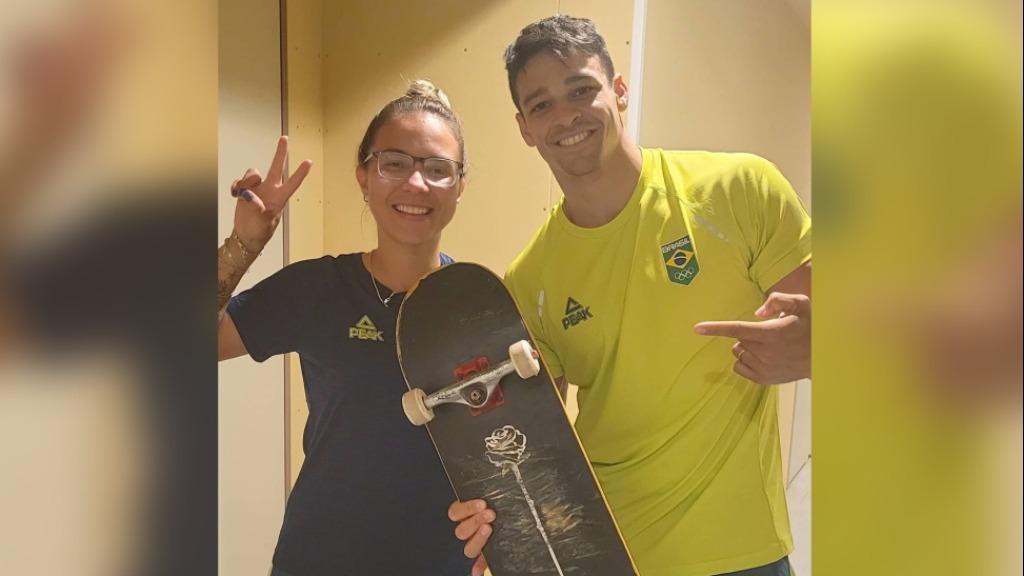 A skatista Pâmela Rosa e o ginasta Chico Barreto (Foto: Divulgação / Rede social) - Foto: Divulgação / Redes Sociais