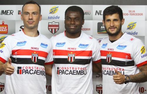 Rogério Moroti/Agência Botafogo - Zagueiro Plínio, volante Serginho e atacante Bruno Moraes são os primeiros nomes oficializados no Tricolor (FOTO: Rogério Moroti/Agência Botafogo)