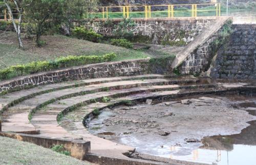 Represa da captação de água está com nível baixo (Amanda Rocha/ACidadeON) - Foto: Amanda Rocha/ACidadeON