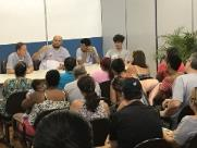 Gestores e técnicos do Projeto Jovem de Talento se reúnem com pais e atletas