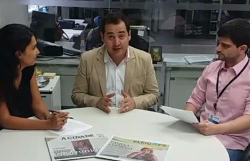 ACidade ON - Ricardo Silva (ao centro) respondeu a perguntas dos internautas e participou de uma live na página do ACidade ON Facebook