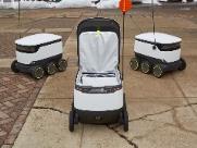 Robôs entregam comida em campus de Universidade americana