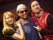 Nora Hanna e Rodrigo Laguna com o músico David Cochrane (foto: Murilo Corte / ME) - Foto: Murilo Corte / ME