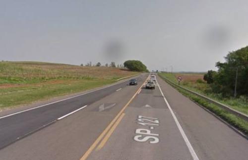 Google Street View - Rodovia onde acidente ocorreu. Foto: Google Street View