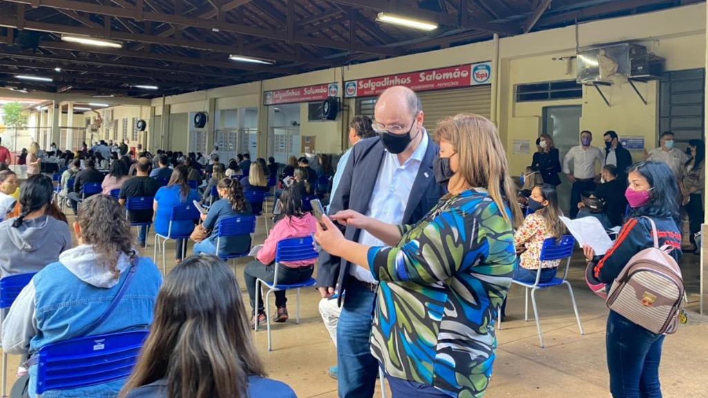 Rossieli Soares esteve no Otoniel Mota (Foto: Michelle Souza / CBN Ribeirão) - Foto: ACidade ON - Ribeirão Preto