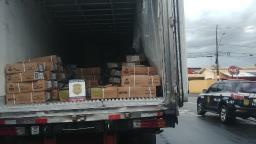 Polícia recupera carga de carnes roubada e prende homem