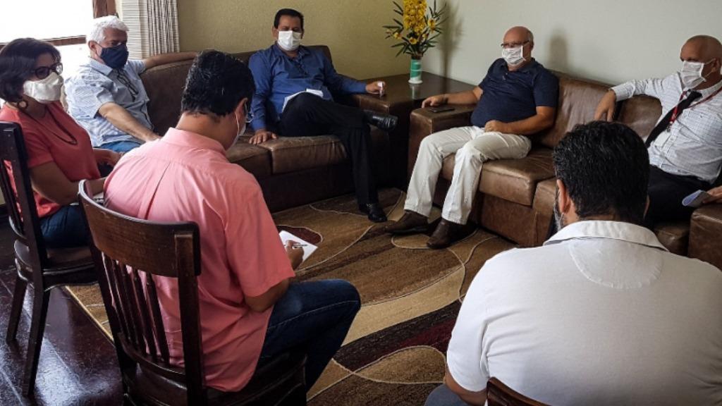 Membros da Mesa Diretora da Câmara fazem reunião para delinear ano de trabalho. Foto: Divulgação - Foto: DIVULGAÇÃO
