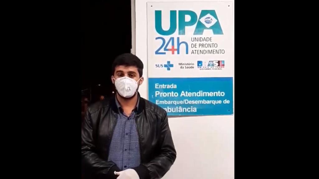 Bruno Zancheta (PL) publica vídeo sobre visita a UPA em São Carlos. Foto: Divulgação / Facebook - Foto: DIVULGAÇÃO