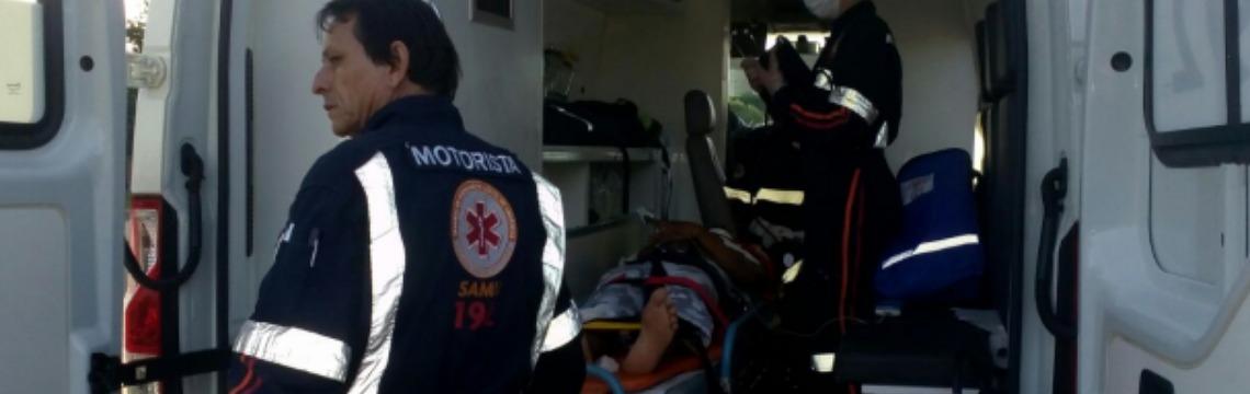 Motociclista fica ferido em acidente no Jockey Club ( foto: ACidade ON São Carlos) - Foto: ACidade ON - São Carlos